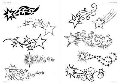 Drawn falling stars Tattoo shooting Pinterest shooting Tattoo