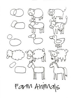 Drawn farm animals Draw images Animals on Animals