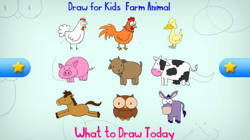 Drawn farm animals #9