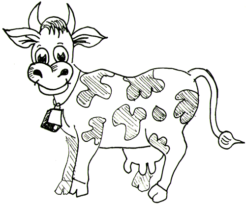 Drawn farm animals Of by Tutorial Page Cows