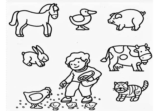 Drawn farm animals Templates Animal & Template Templates