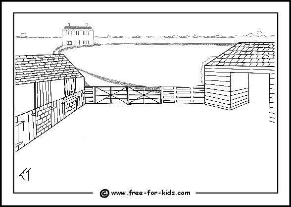 Drawn farm [Homeschool farmyard (free (free scene