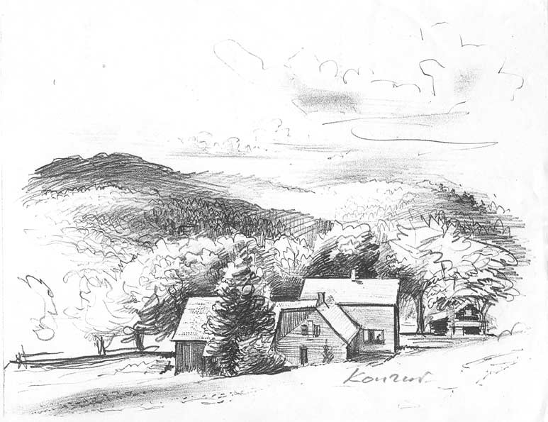 Drawn farm House Draw Schumacher Sketch Pencil