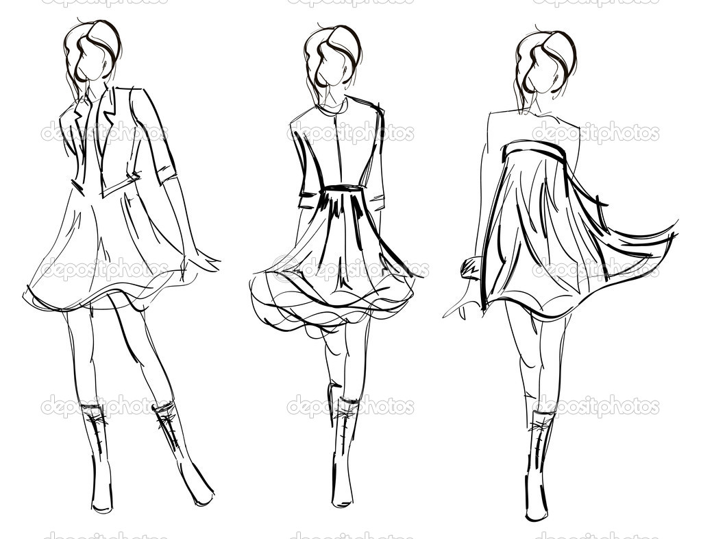 Drawn fashion Stock model Stock drawn Drawing