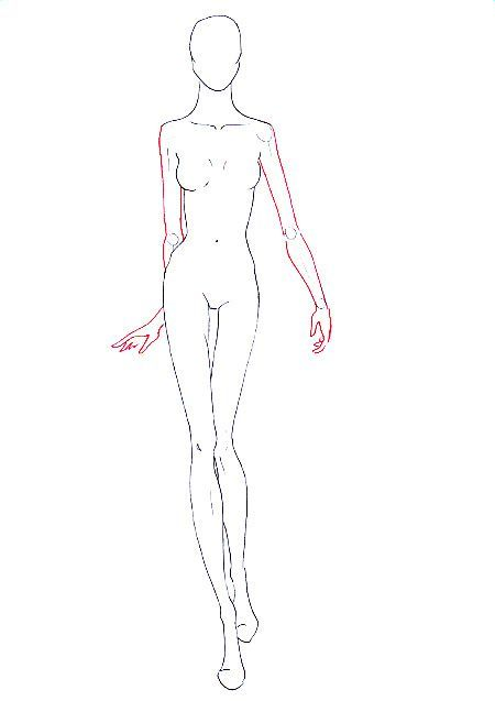 Drawn figurine sketch model About Drawing to draw fashion