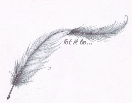 Drawn feather #11