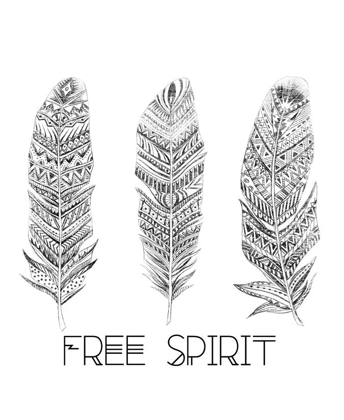 Drawn spirit free spirit Spirit spirit Feather Feather HandDrawing