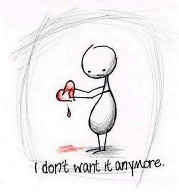Drawn broken heart heartache #1