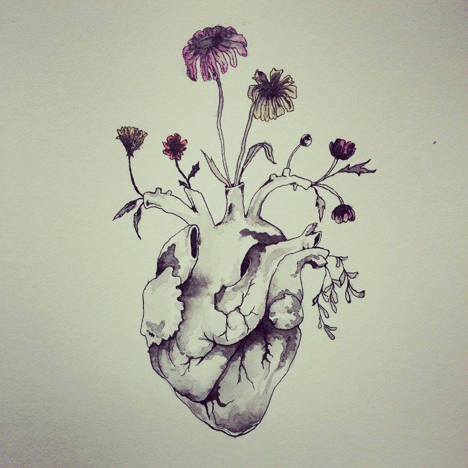 Drawn hearts creative Art peace back indie back