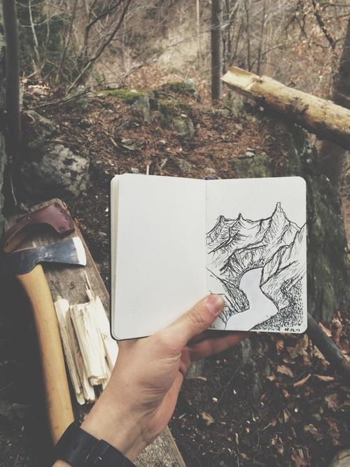 Drawn feelings notebook #5