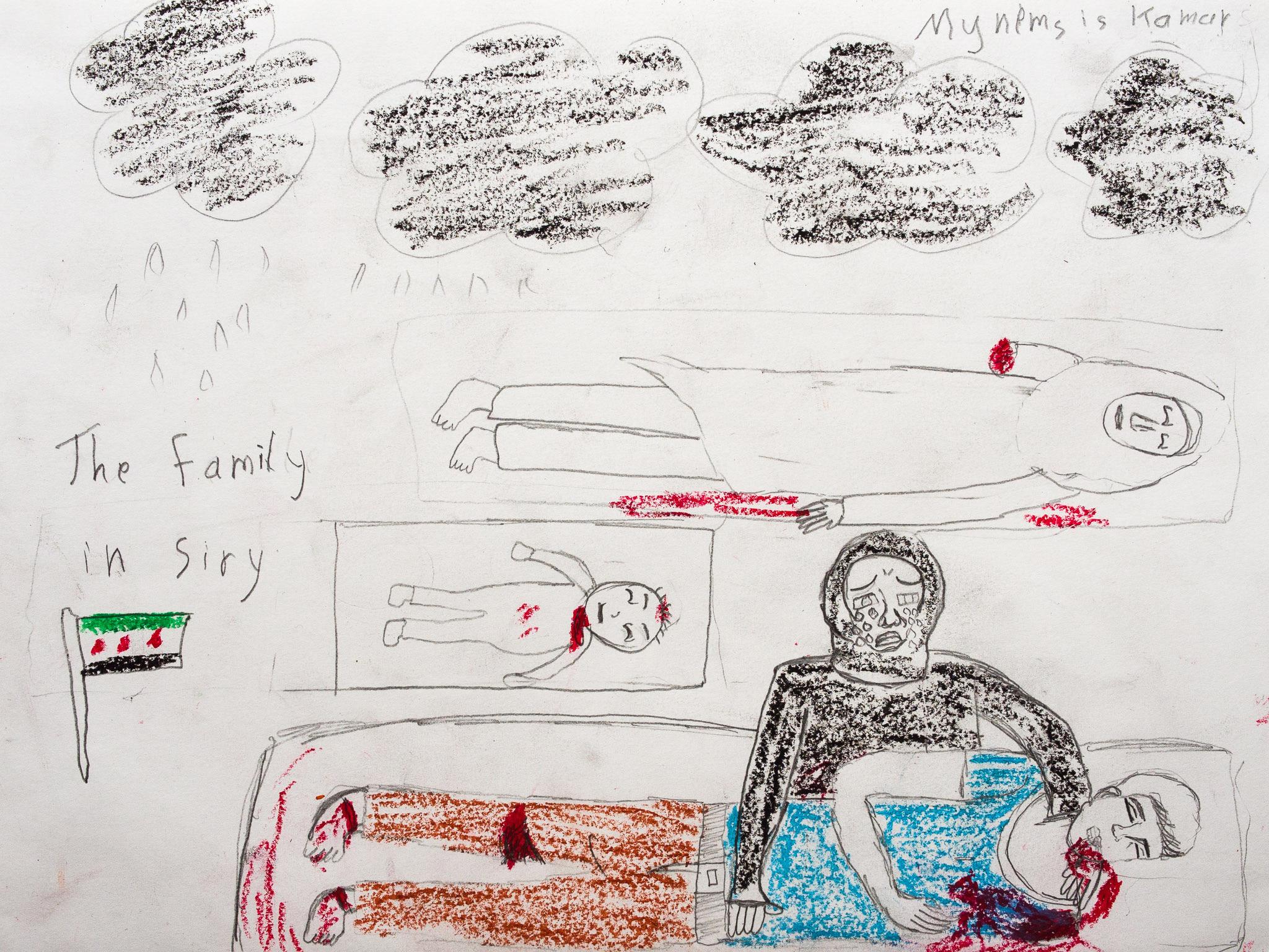 Drawn wars courage Drawing children Artistic fallen