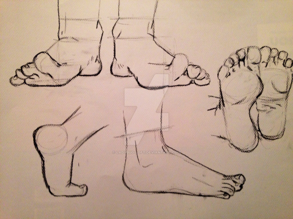 Drawn feet By Drawn drawing Drawn Hand