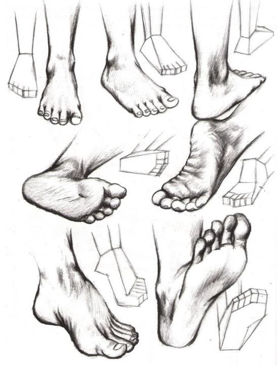 Drawn feet Foot house! to feet feet