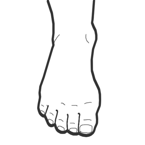 Drawn feet Drawing Drawing Feet Easy Easy