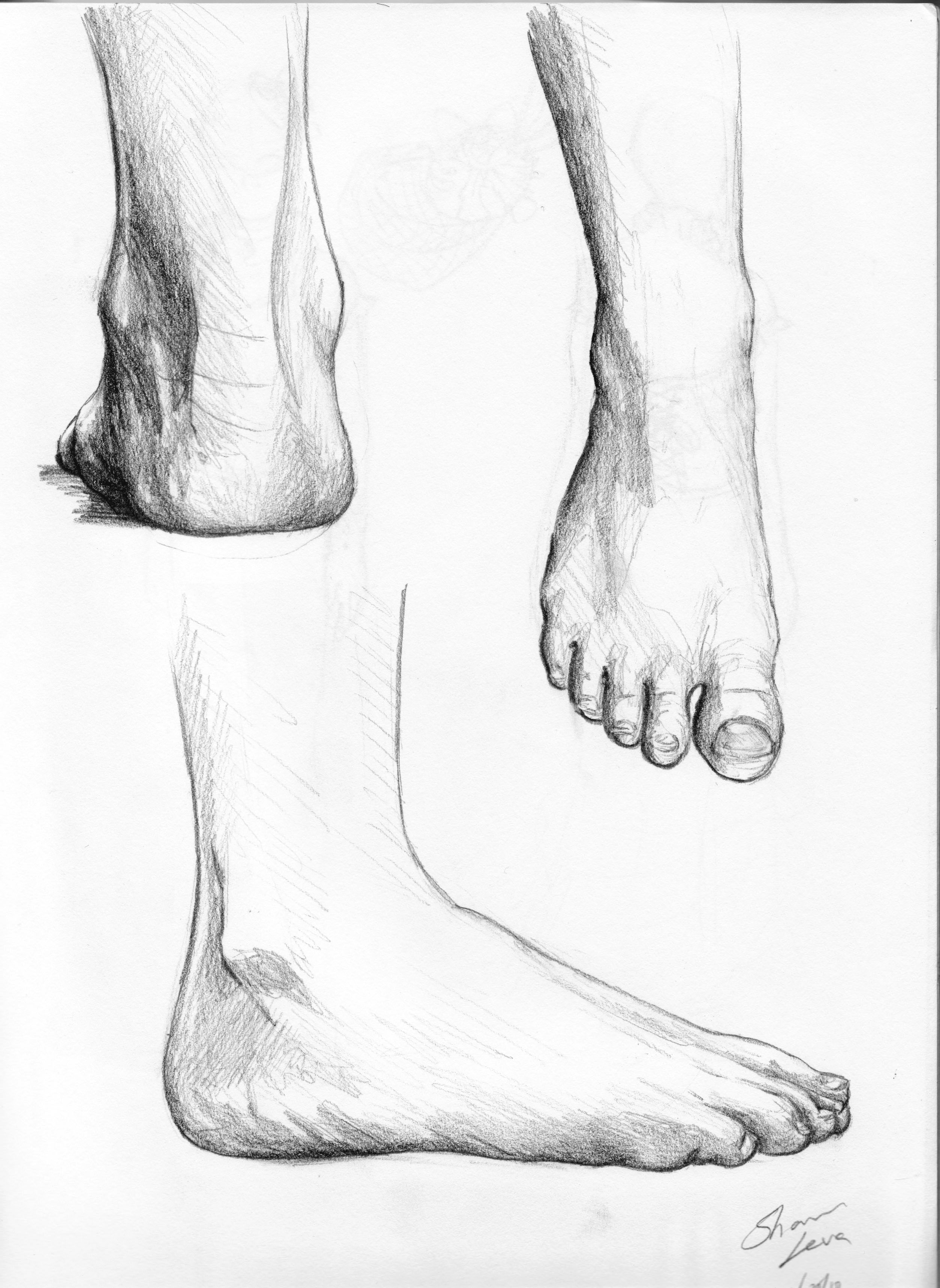 Drawn feet Picture Feet Art Feet Realistic