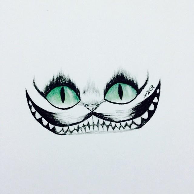 Drawn alice in wonderland real cat #8
