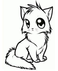 Drawn cute cat And draw how this Pin