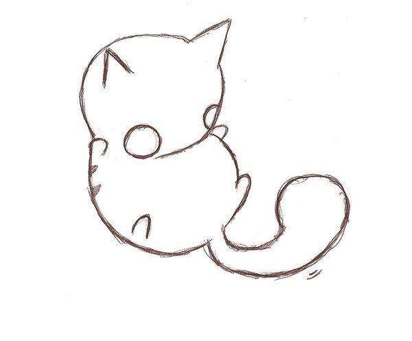 Drawn kitten chibi On gatos  images 214