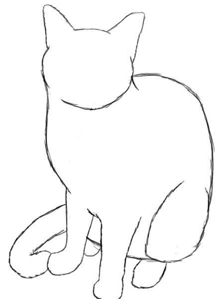 Drawn animal kitten #4