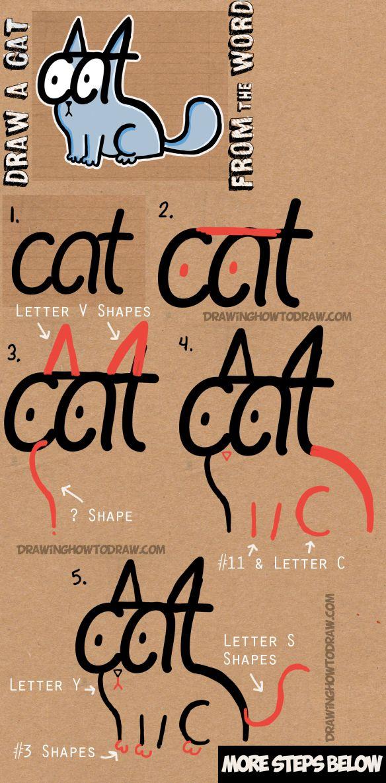 Drawn reindeer cat Cat Tutorial Step to Word