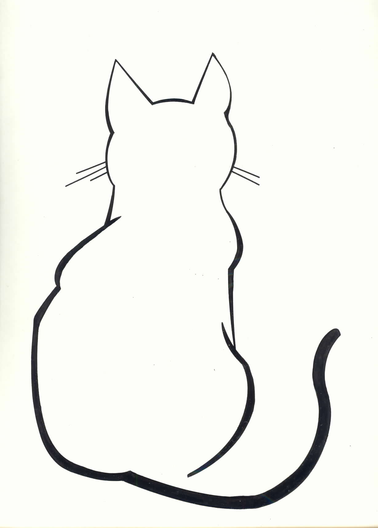 Drawn profile cat Tattoo by watercolor Cat Pillow