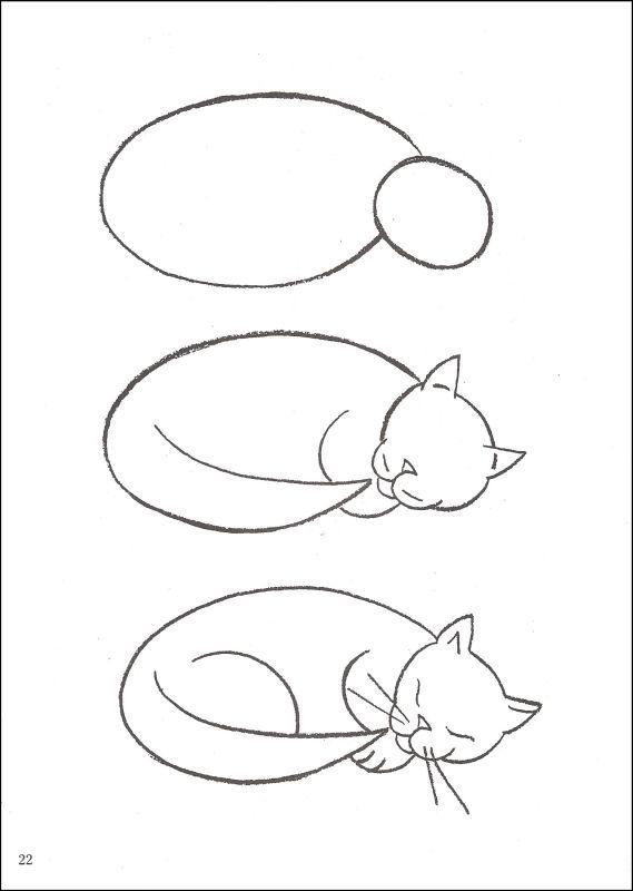 Drawn puppy sleeping Family cat Pinterest Cat like