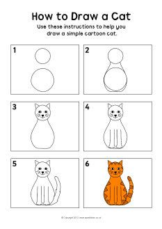 Drawn cat step by step #10