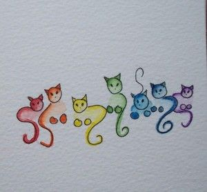 Drawn rainbow simple Drawing review cat Kaboodle Best