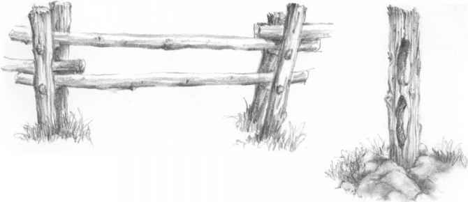 Drawn fence Drawing Fence Post Arts Nava