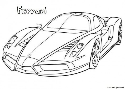 Ferarri clipart coloring page Pages Printable Pages Printable Car