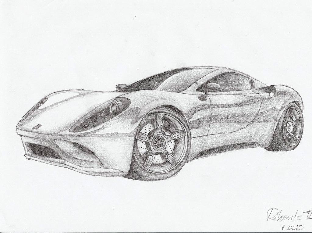 Drawn ferrari 2010 2010 Dino concept by