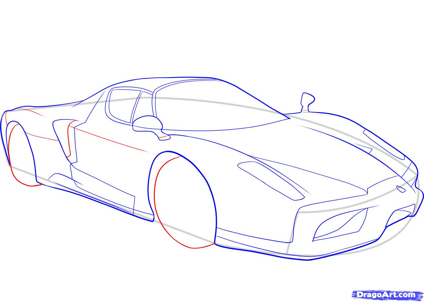 Drawn ferrari A Cars Draw  How