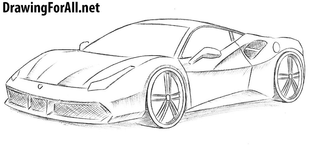 Drawn ferrari A Ferrari Draw a DrawingForAll