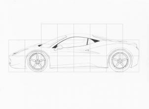 Drawn ferarri italia Cars step how by a