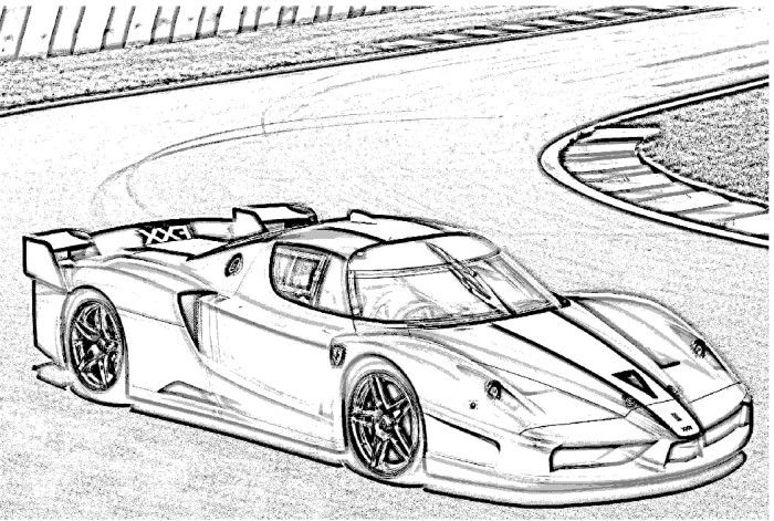 Ferarri clipart colouring page Fxx  Pinterest Stamps and