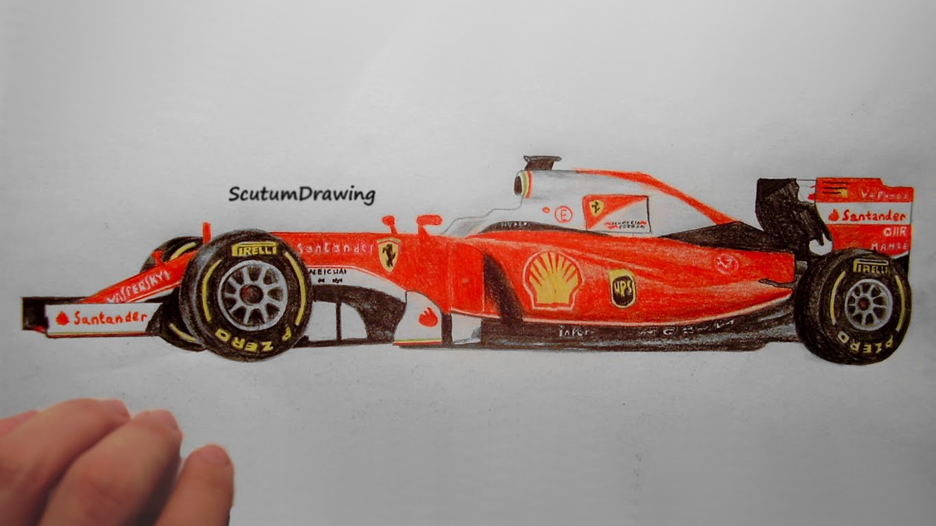 Drawn ferarri epic car How To Ferrari Speed Drawing