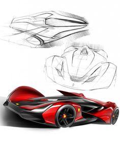 Drawn ferarri epic car Carbodydesign Ferrari Sketches http://www com/design