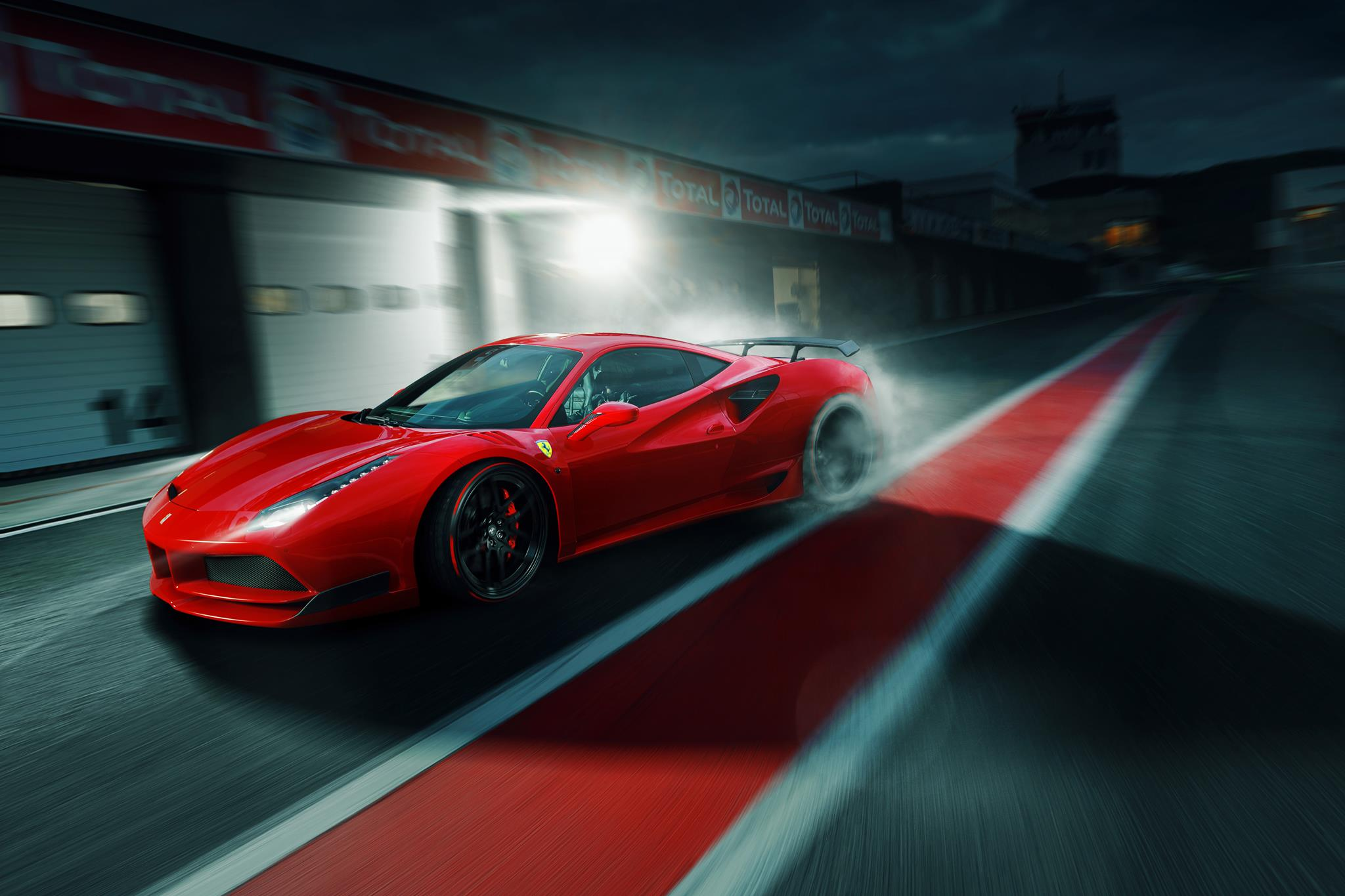 Drawn ferarri epic car  Largo Ferrari  the
