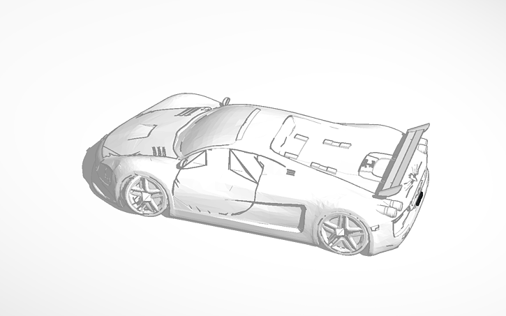 Drawn ferarri epic car Ferrari View design Epic Tinkercad