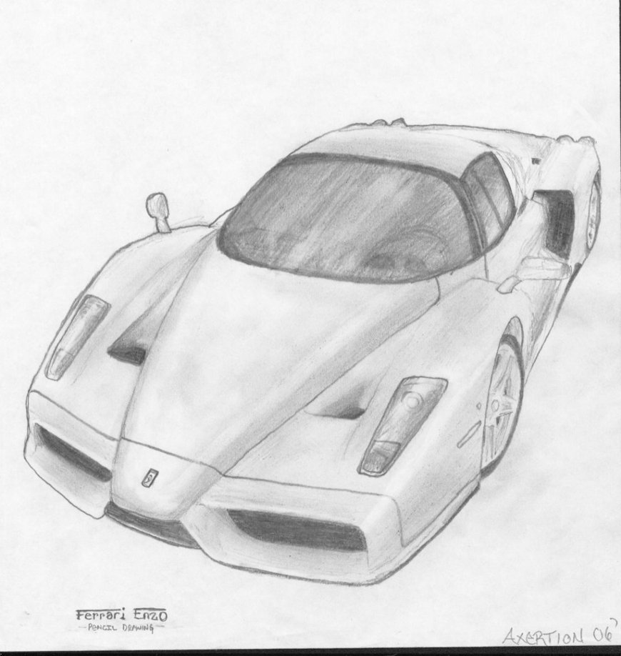 Drawn ferarri wallpaper On DeviantArt Axertion Drawing Drawing