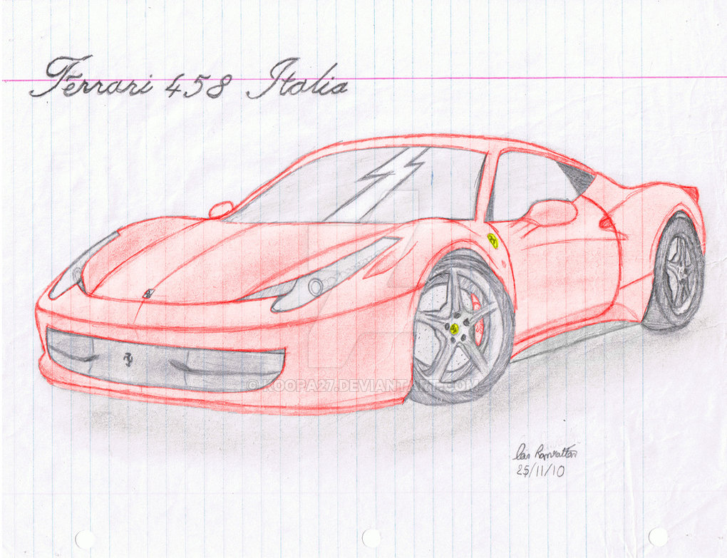 Drawn ferarri italia Koopa27 w/ Ferrari Drawn Hand