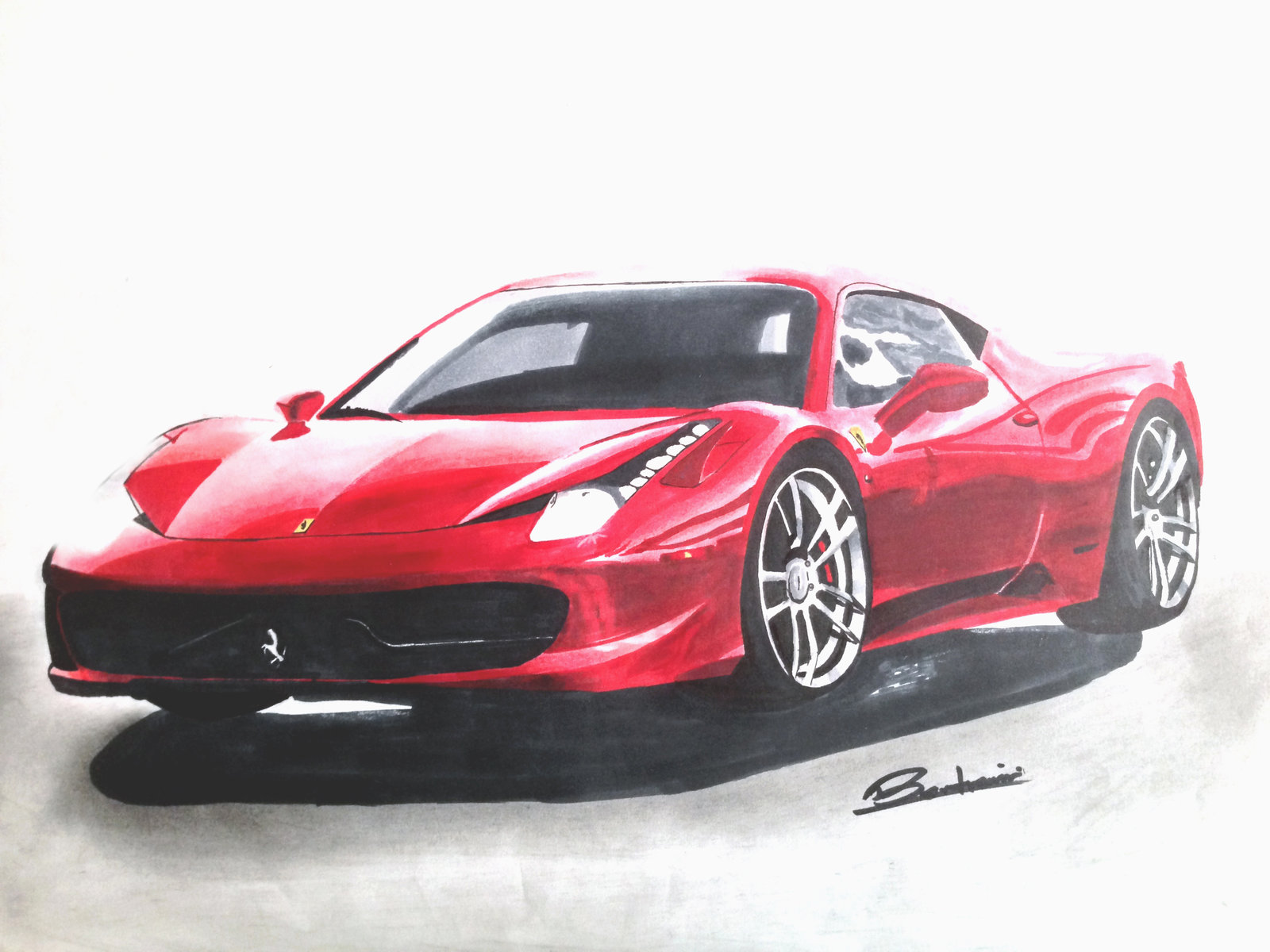 Drawn ferarri italia Ferrari Ferrari by by on