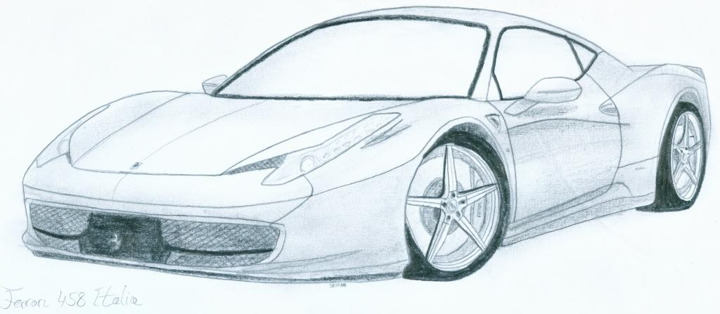Drawn ferarri italia Edesr  Italia Drawing Ferrari
