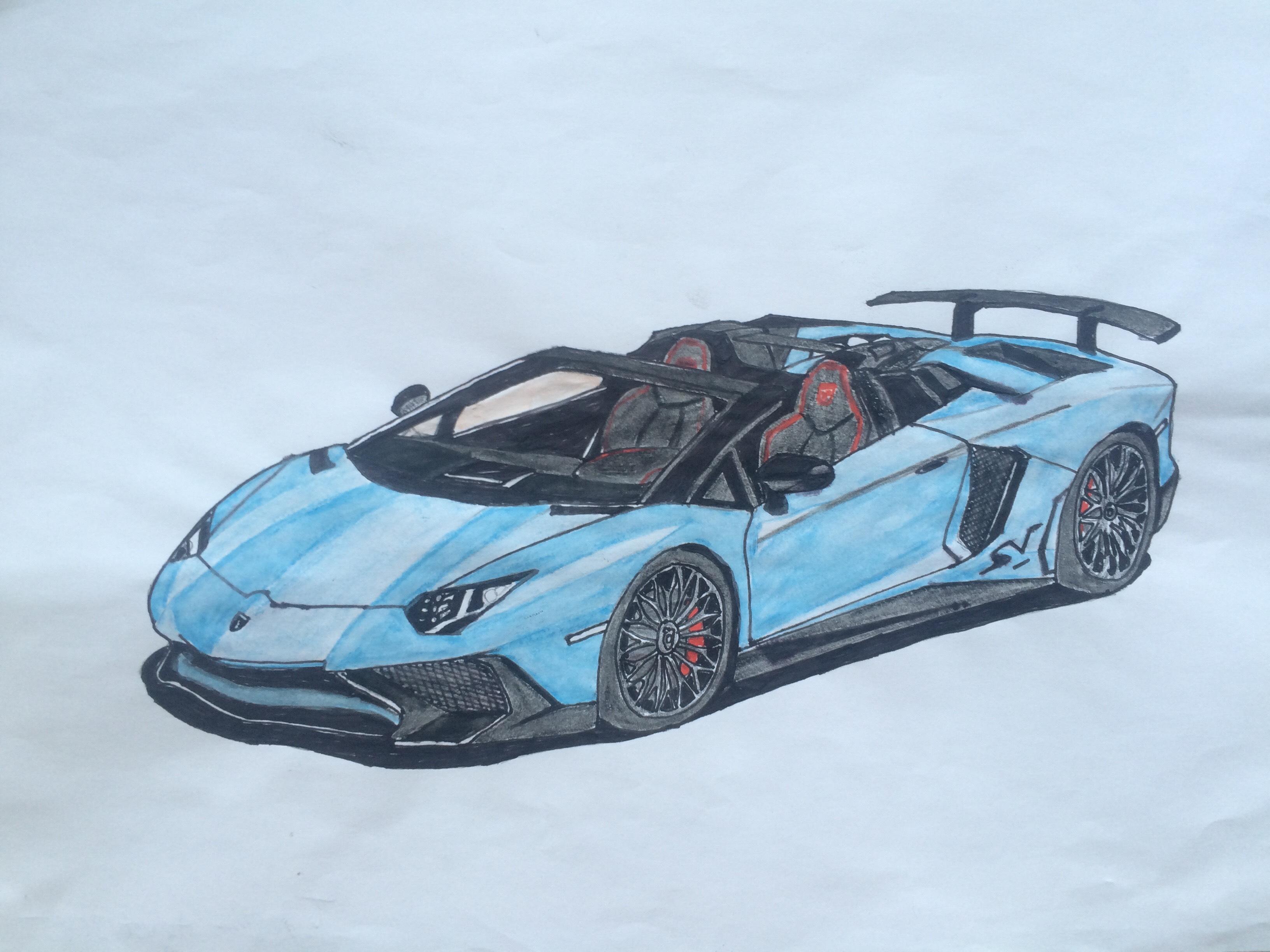 Drawn amd lamborghini aventador Of Roadster Lamborghini of the