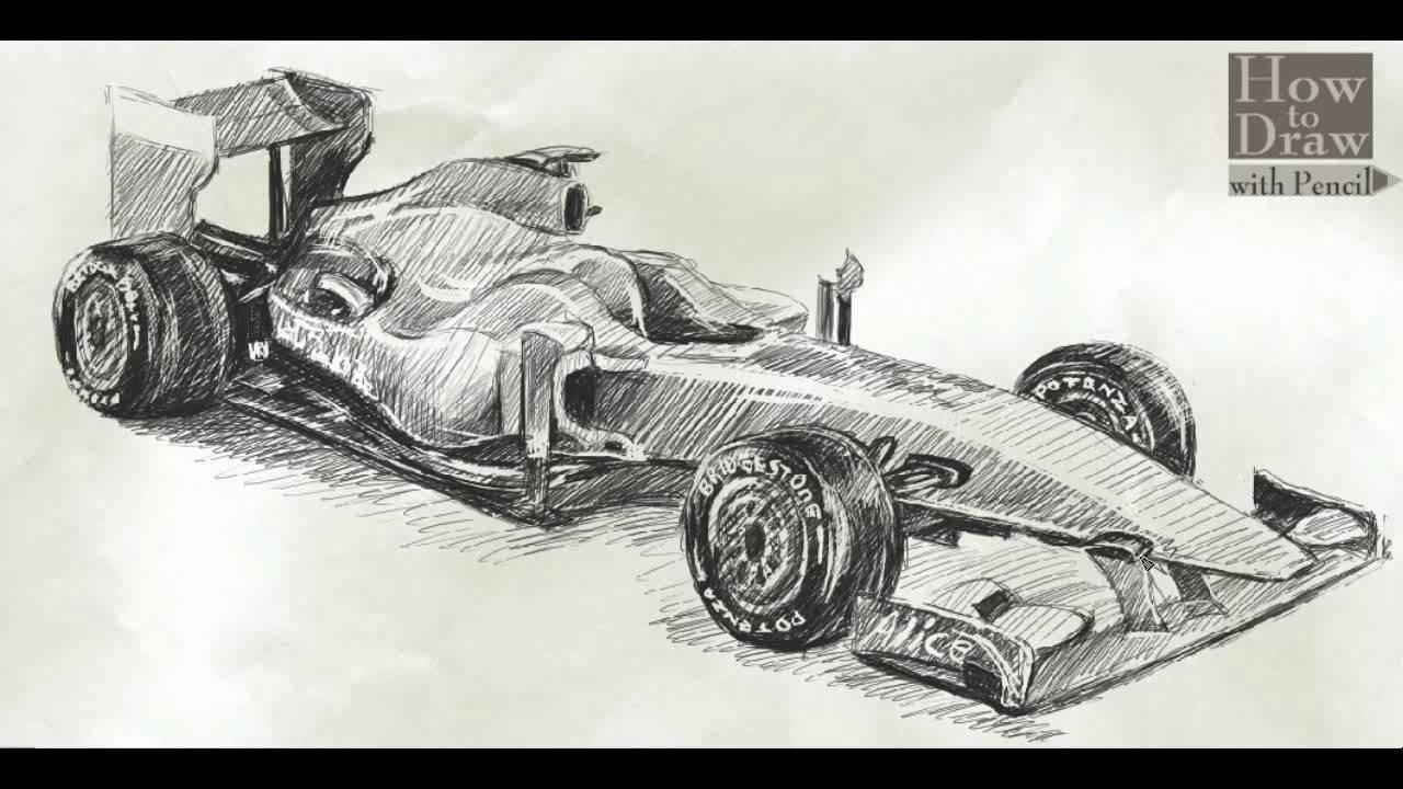 Drawn race car f1 car Draw Draw F60 Ferrari Car