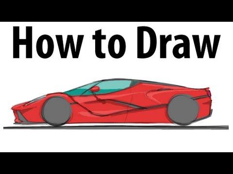 Drawn ferarri epic car LaFerrari it How a Ferrari