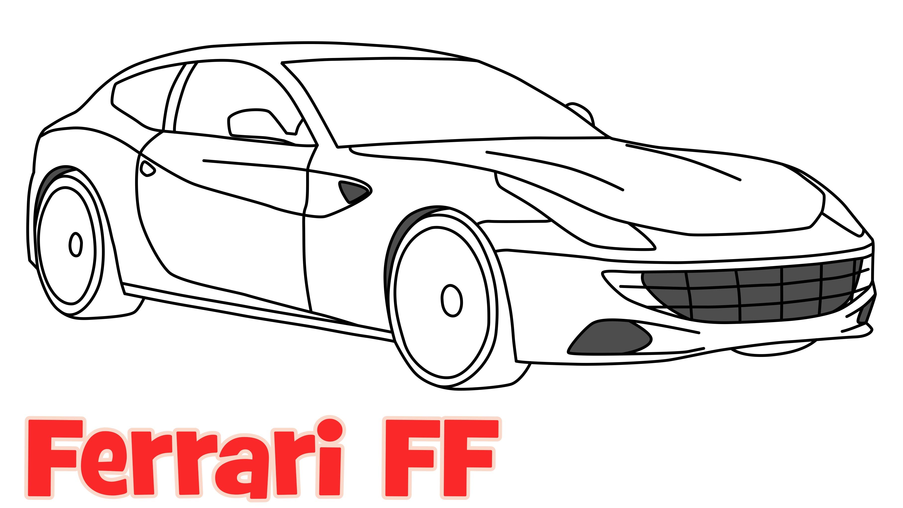 Drawn ferarri easy Car Ferrari by by step