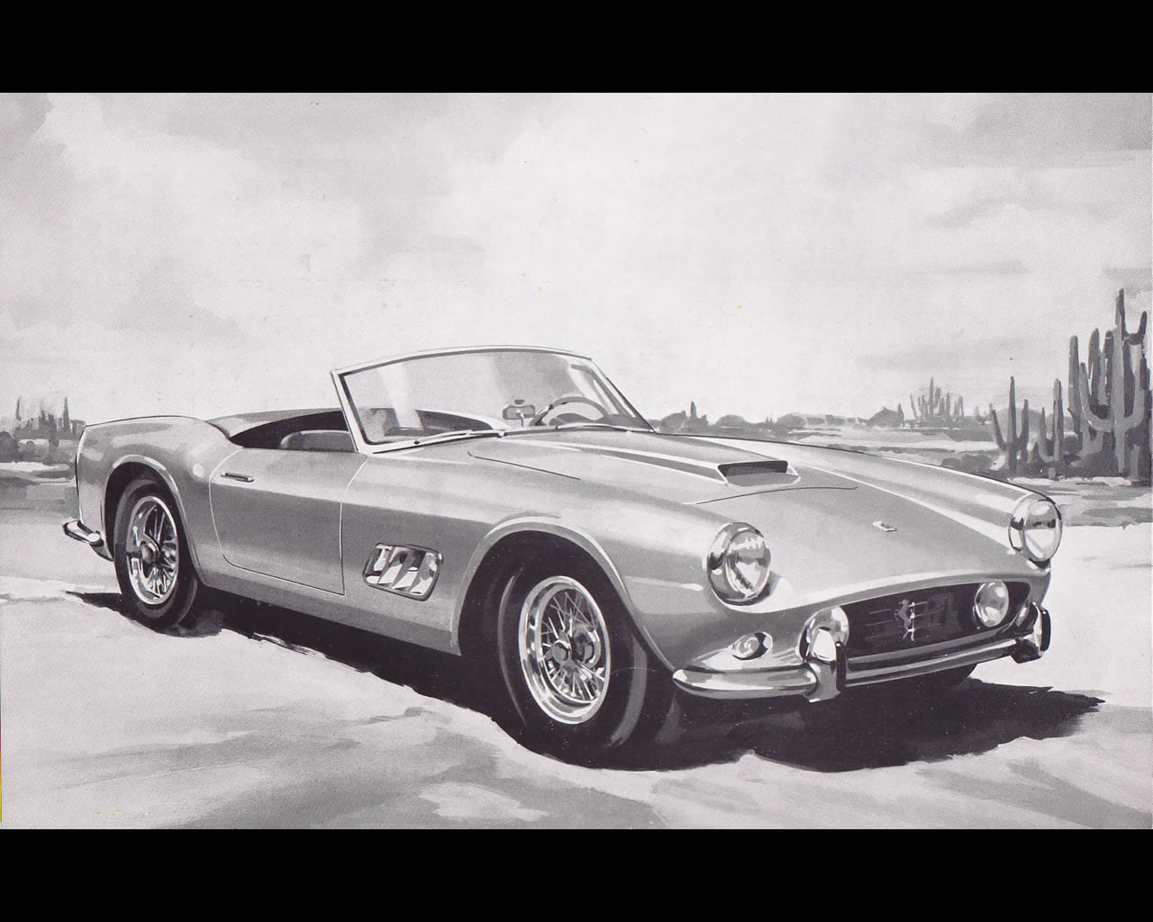 Drawn ferarri wallpaper 250 GT Spyder factory GT