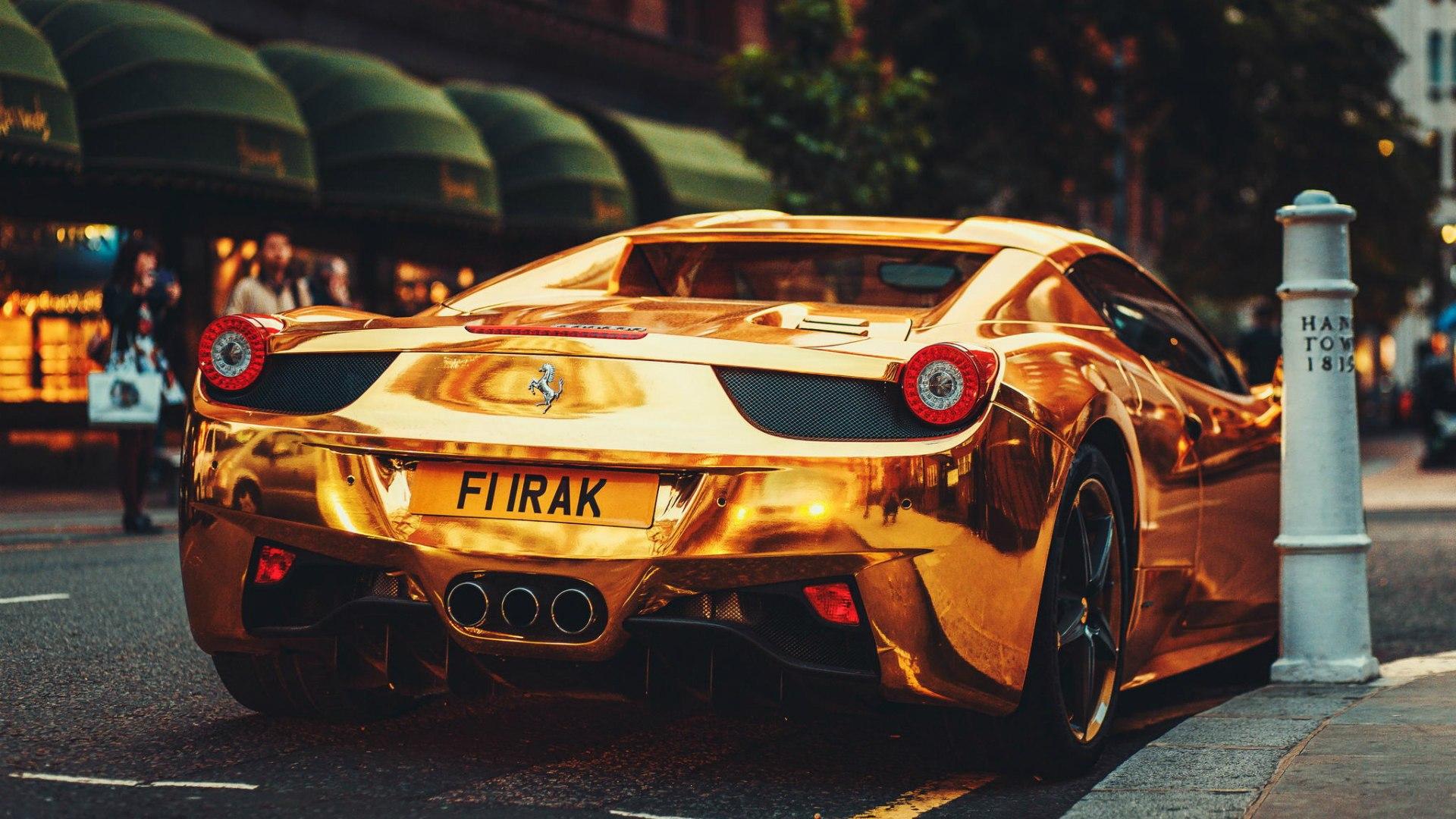 Drawn ferarri wallpaper Gold  wallpapers Italia Ferrari