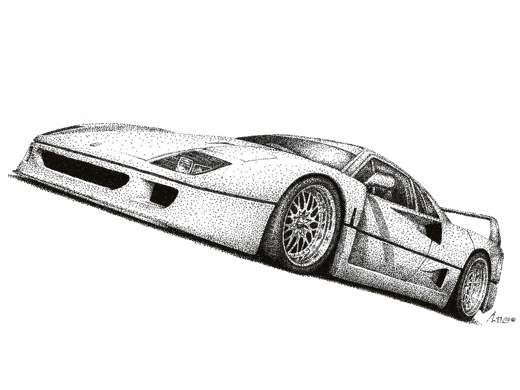 Drawn ferarri wallpaper Ferrari Medvezh by on by
